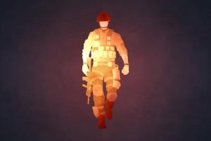 行走的士兵