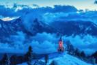 斯洛文尼亚的雪山