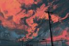 彩绘火烧云