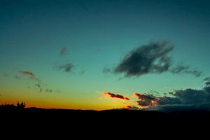 黄昏的天空