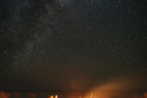 星空下的篝火