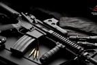 黑色的狙击枪