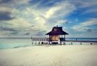 海滩上的小屋