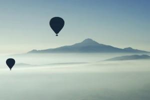 清晨的热气球