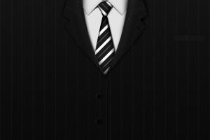 黑色的西装