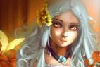 雀斑的白发少女