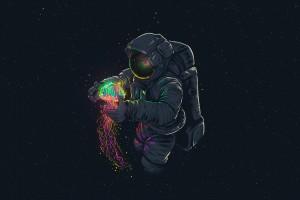 宇航员与水母