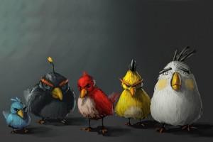 水彩版愤怒的小鸟