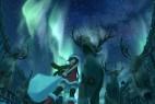 圣诞少女与麋鹿