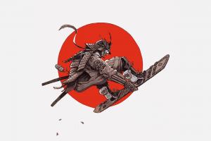 滑板的日本武士