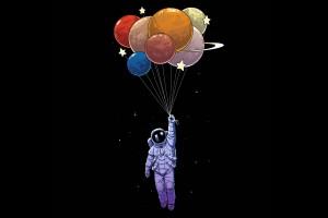 宇航员与气球