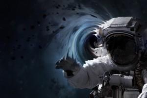 宇航员与黑洞