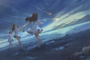 星空下奔跑的少女