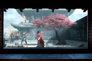 樱花下的武士