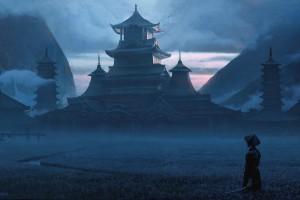 武士与建筑