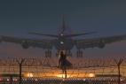 看飞机的少女